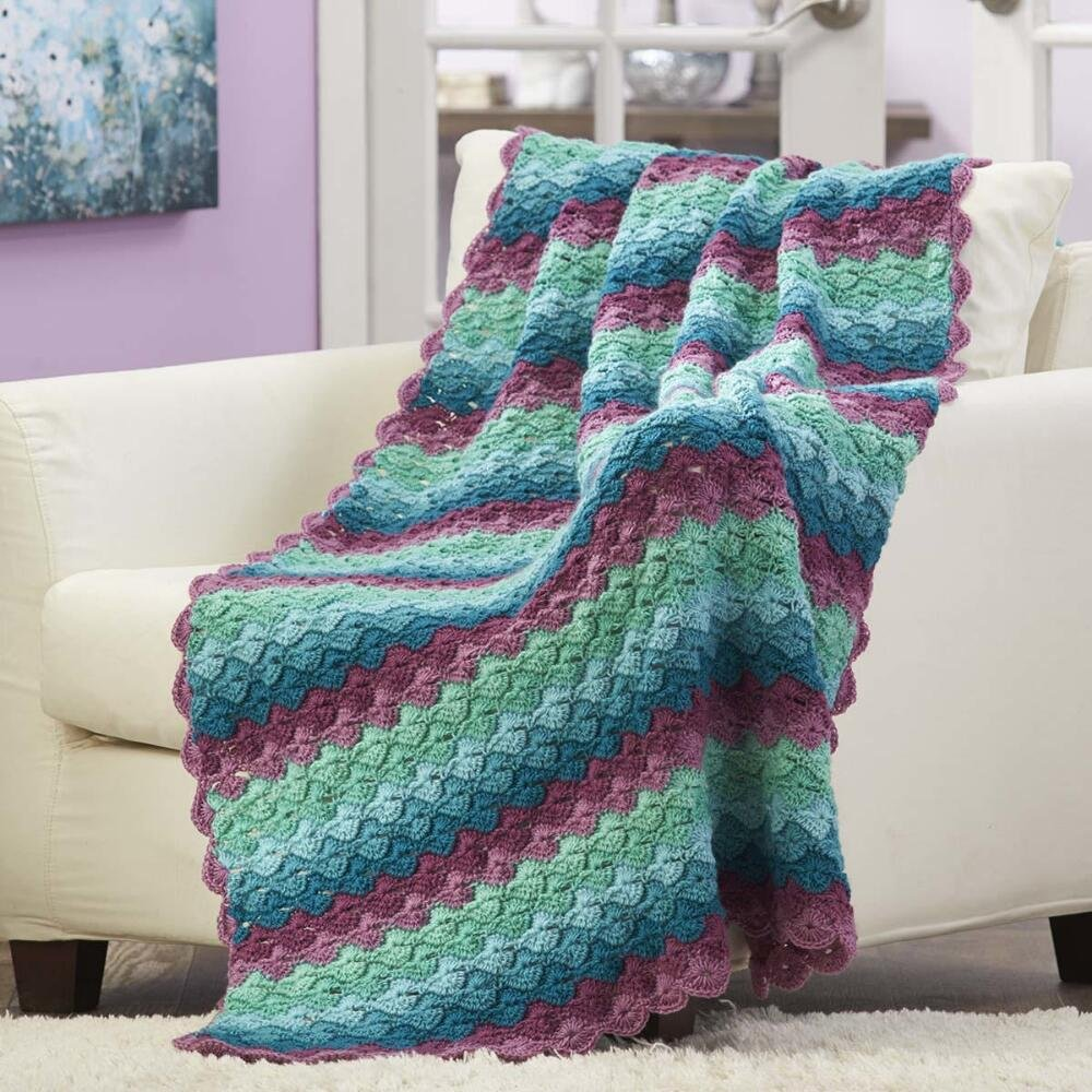 Herrschners® Agave Crochet Afghan Kit