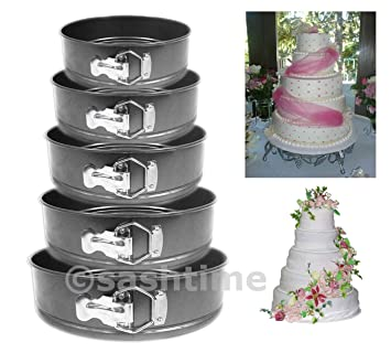 LIVIVO Juego de 5 redonda antiadherente molde para tartas/bandeja para horno. Molde: Amazon.es: Hogar