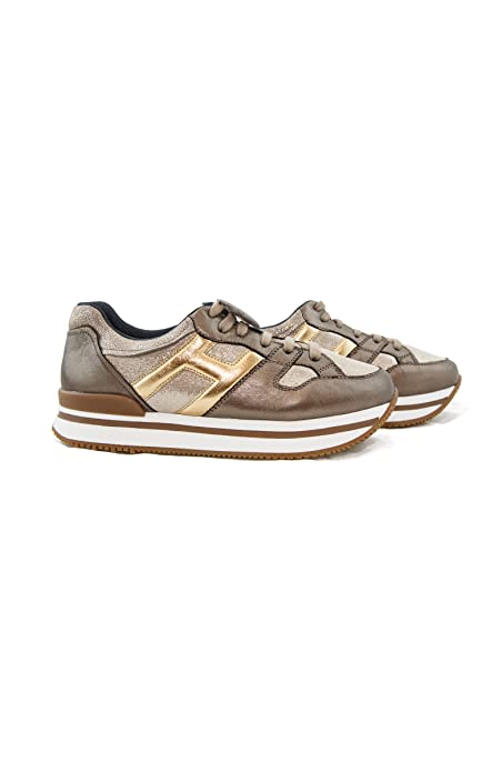Hogan Junior Sneakers H222 HXR2220T540HAQ Oro  Amazon.it  Scarpe e borse ef9bbbf75e0