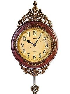 elegant traditional decorative hand painted modern grandfather wall clock wswinging pendulum - Decorative Clocks