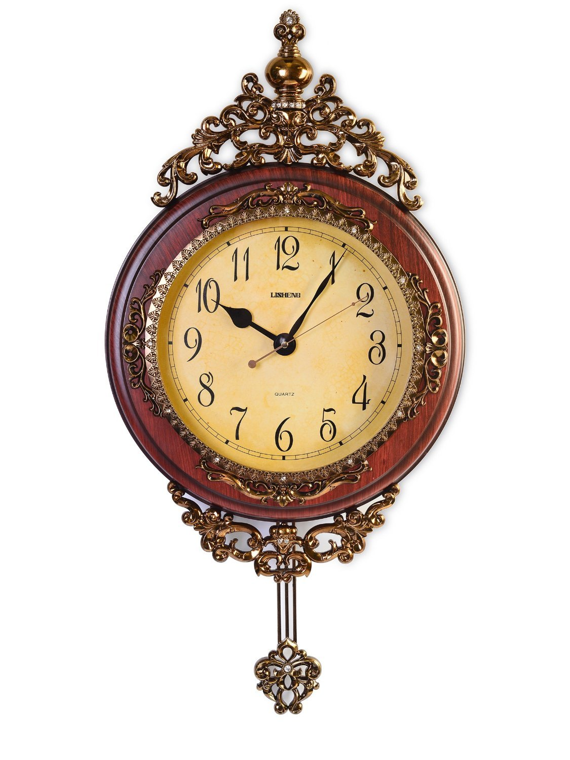 Grandfather wall clock vintage decor wood pendulum antique brown bedroom living ebay - Antique clock designs for your home ...