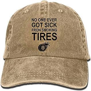 Walnut Cake Gorras béisbol No One Ever Got Sick Fron Smoking TiresAdjustable Unisex Baseball Cap Fashion Style Hat Cotton Denim Cap