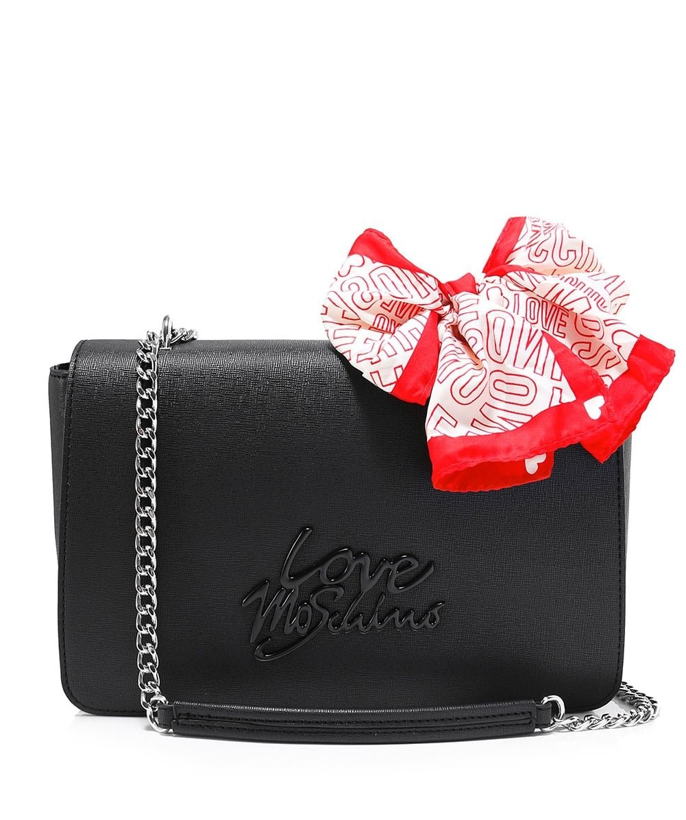 Love Moschino Women's Leather Shoulder Bag Black One Size