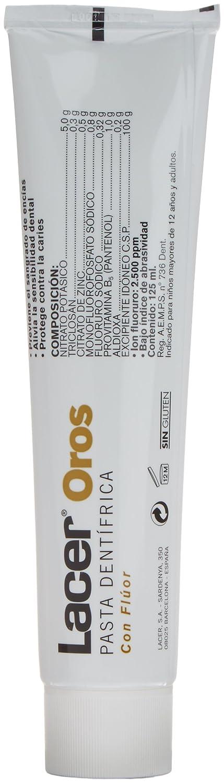 Lacer Oro Dentífrico con Flúor - 125 ml: Amazon.es: Salud y cuidado personal