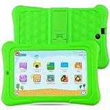Alldaymall Tablet Infantil de 7 pulgadas 16GB IPS FHD1920x1200 (64-Bit Quad Core, Android 5.1, Wi-Fi, Bluetooth) Verde con funda de silicona 2017 Nuevo