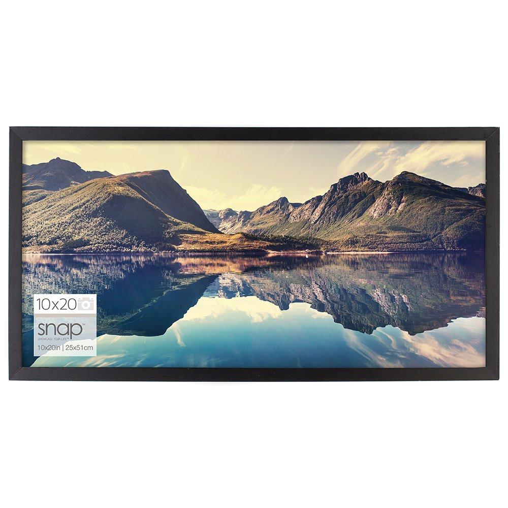 Snap 10x20 Black Wood Wall Photo Frame