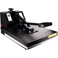"PowerPress HPM-1515-BK Industrial-Quality Digital Sublimation T-Shirt Heat Press Machine, 15""x15"", Black"