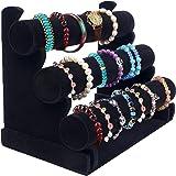 Bracelet Holder with Three Tier Rack ~ Velvet Bracelet Stand ~ Jewelry Organizer ~ Bangle Display ~ Jewelry Organizer…