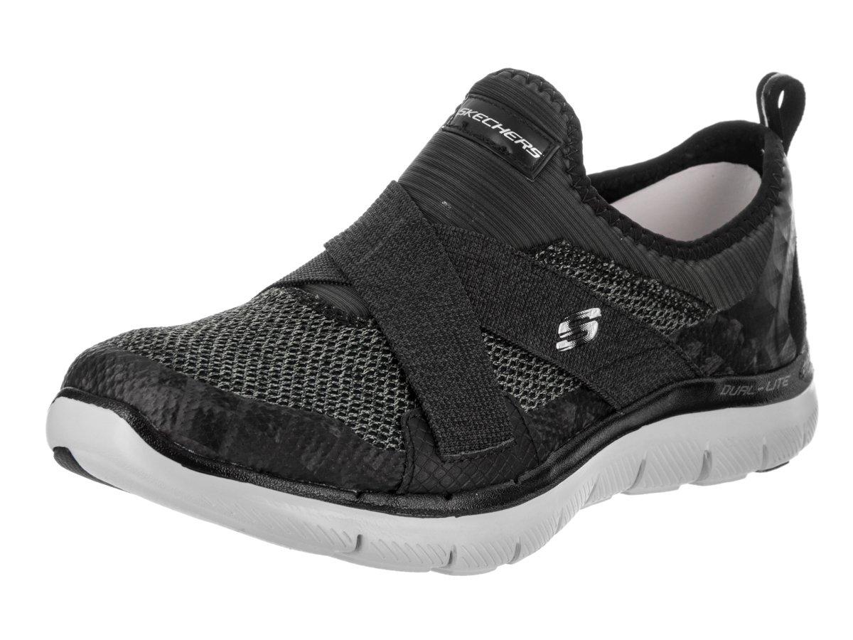 Skechers Women's Flex Appeal New Image Sneaker B01EOS1QRO 8.5 B(M) US|Black/Grey