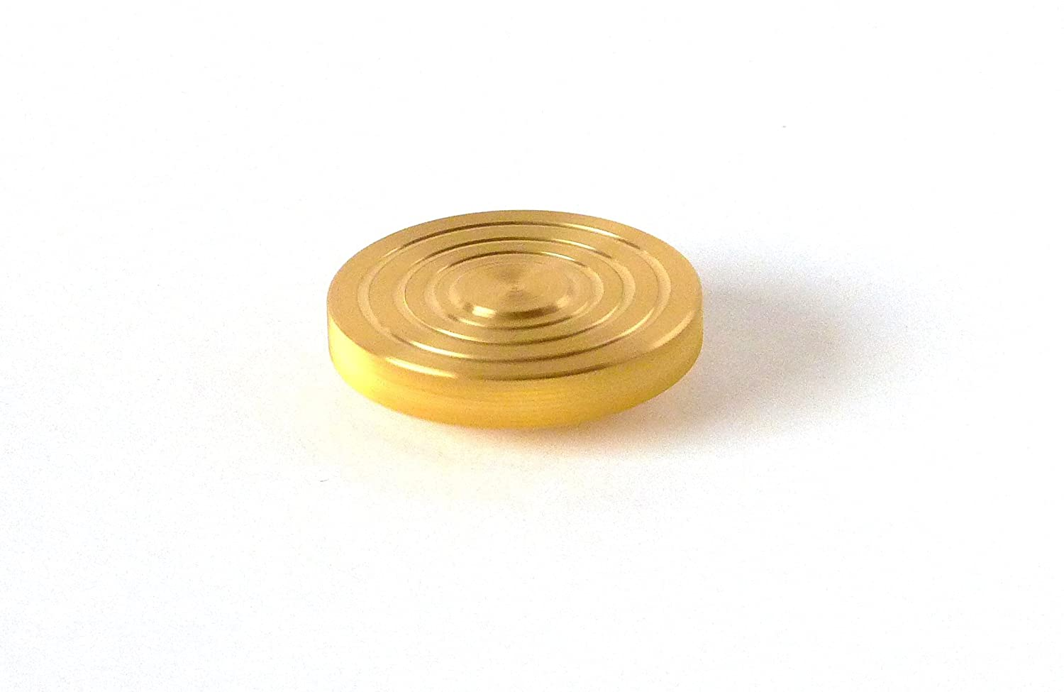 THE FLATTOP - BRASS HANDMADE EDC SPINNING TOP - MADE IN THE USA ...