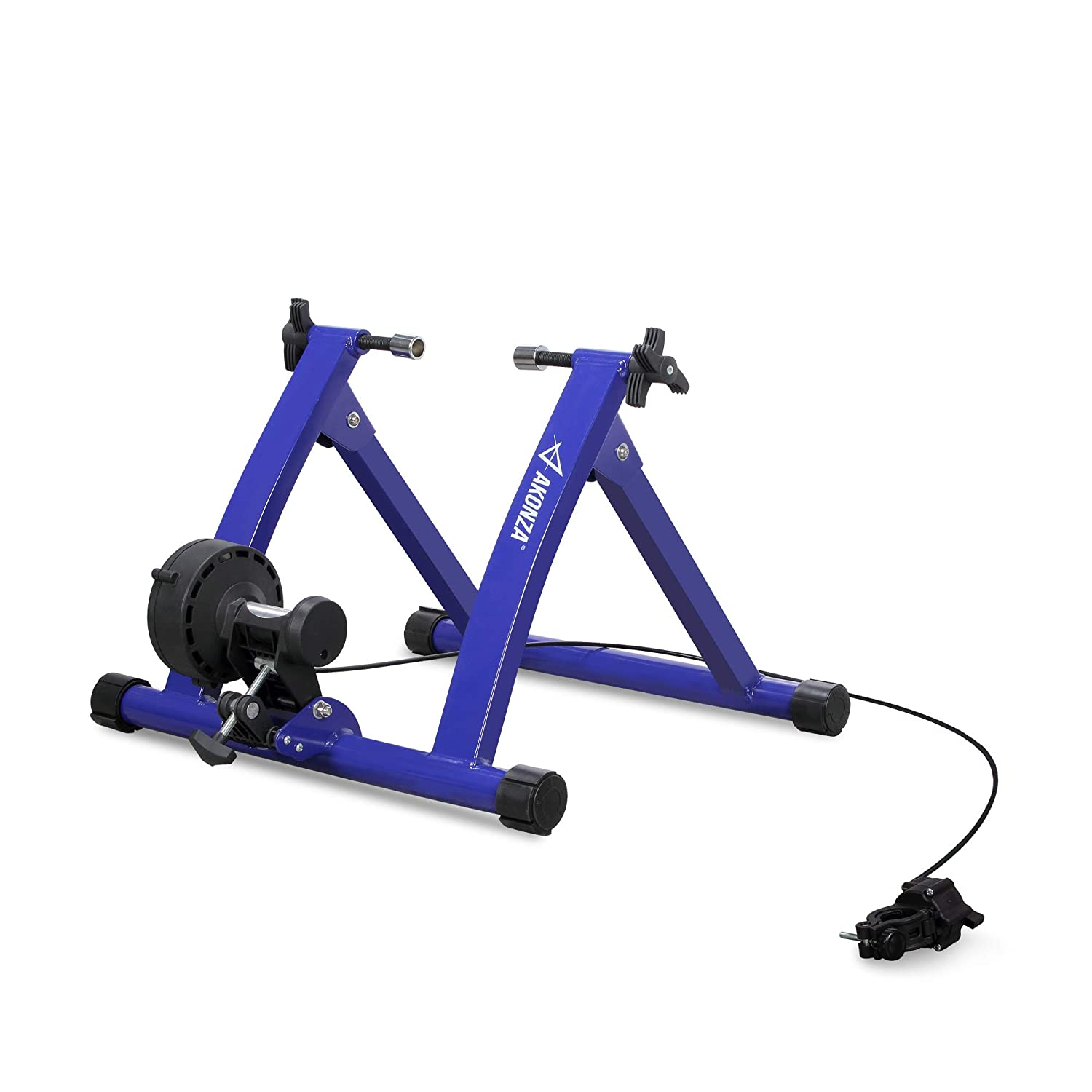 Akonza Magnet Steel Bike Bicycle Indoor Exercise Trainer Stand Black Blue