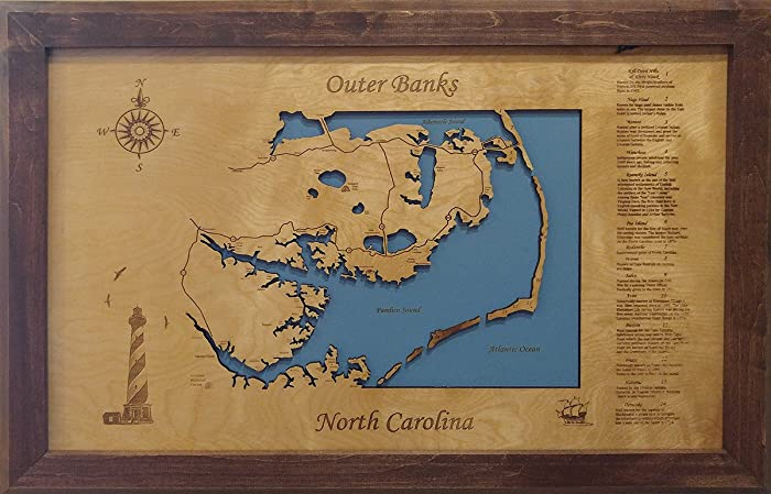 Amazon.com: Outer Banks, North Carolina: Framed Wood Map ... on maps in europe, noth carolina, maps kansas, maps colorado, maps in tennessee, maps florida, maps north dakota, map of n carolina, maps in wyoming, maps michigan, maps in africa, maps in singapore, maps mississippi, maps in france, maps in south dakota, maps in chicago, maps new york, maps arkansas, maps in alaska, maps in louisville,