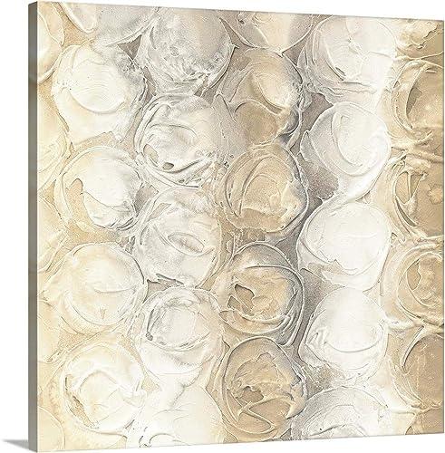 Neutral Circles III Canvas Wall Art Print