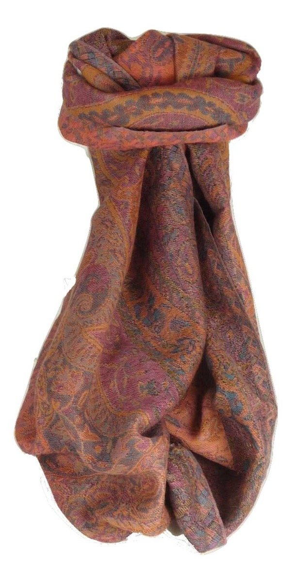 Muffler Scarf 3913 in Fine Pashmina Wool from the Heritage Range by Pashmina & Silk