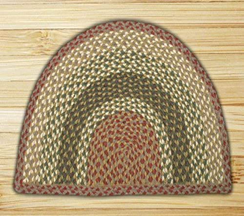 Earth Rugs Rug, 24 by 39 , Olive Burgundy Gray