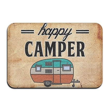Amazon Happy Camper Camping Door Mat Entrance Mat Floor Mat