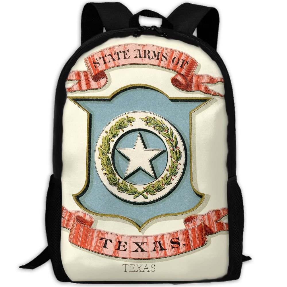 ZQBAAD Texas State Coat Of Arms Luxury Print Men And Women's Travel Knapsack