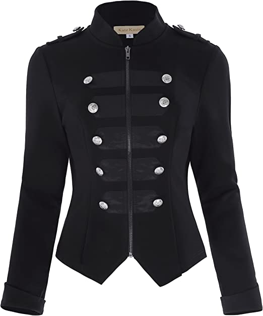 Amazon.com: Kate Kasin chaqueta militar estilo steampunk ...