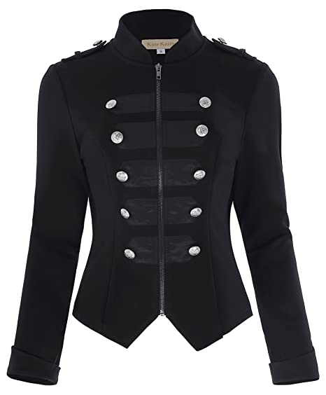 789f584e Kate Kasin Womens Victorian Steampunk Ringmaster Jacket Military ...