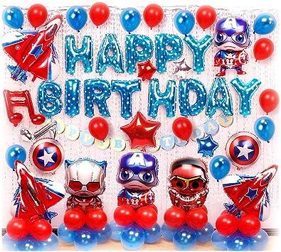Amazon.com: Siyushop Capitán América decoración de fiesta ...