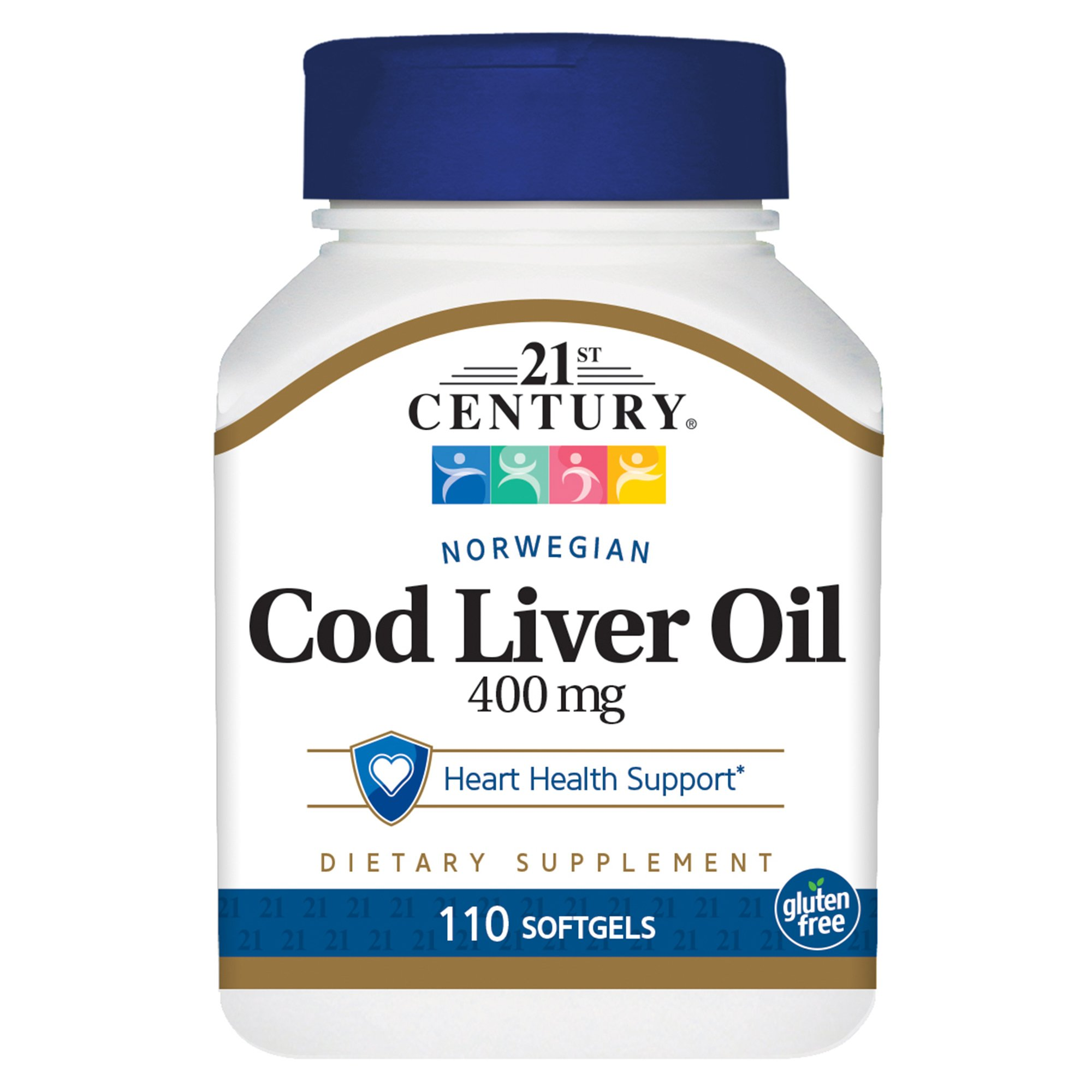 21st Century Cod Liver Oil Softgels, 110 Count (Pack of 3)