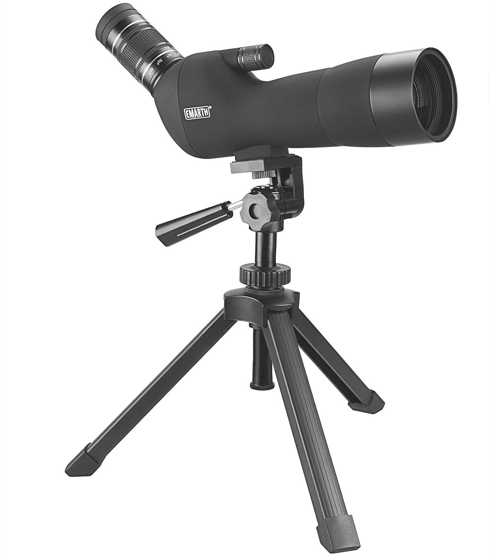Emarth 20 – 60 x 60 mm Angled Spotting Scope with Bigger接眼レンズ(アップグレードバージョン、Canonアダプタ含む) のHunting Bird Watching Shooting B076XYQW57