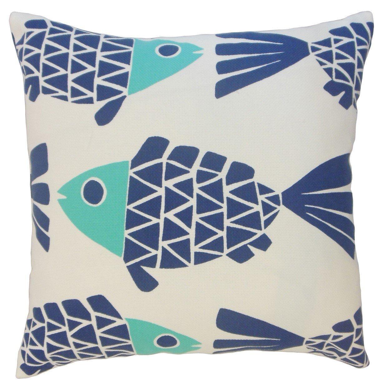 The Pillow Collection Edana Graphic Bedding Sham Bluemarine Queen//20 x 30