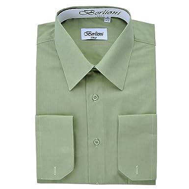 Elegant Men's Button Down Sage Dress Shirt at Amazon Men's ...