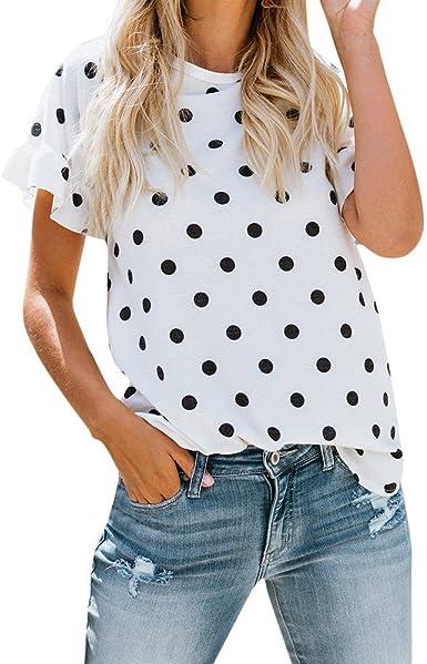 Tosonse Camiseta para Mujer Blusas Sin Mangas con Cuello Redondo Camisas De Manga Corta Nueva Camiseta De Regalo Túnica: Amazon.es: Ropa y accesorios