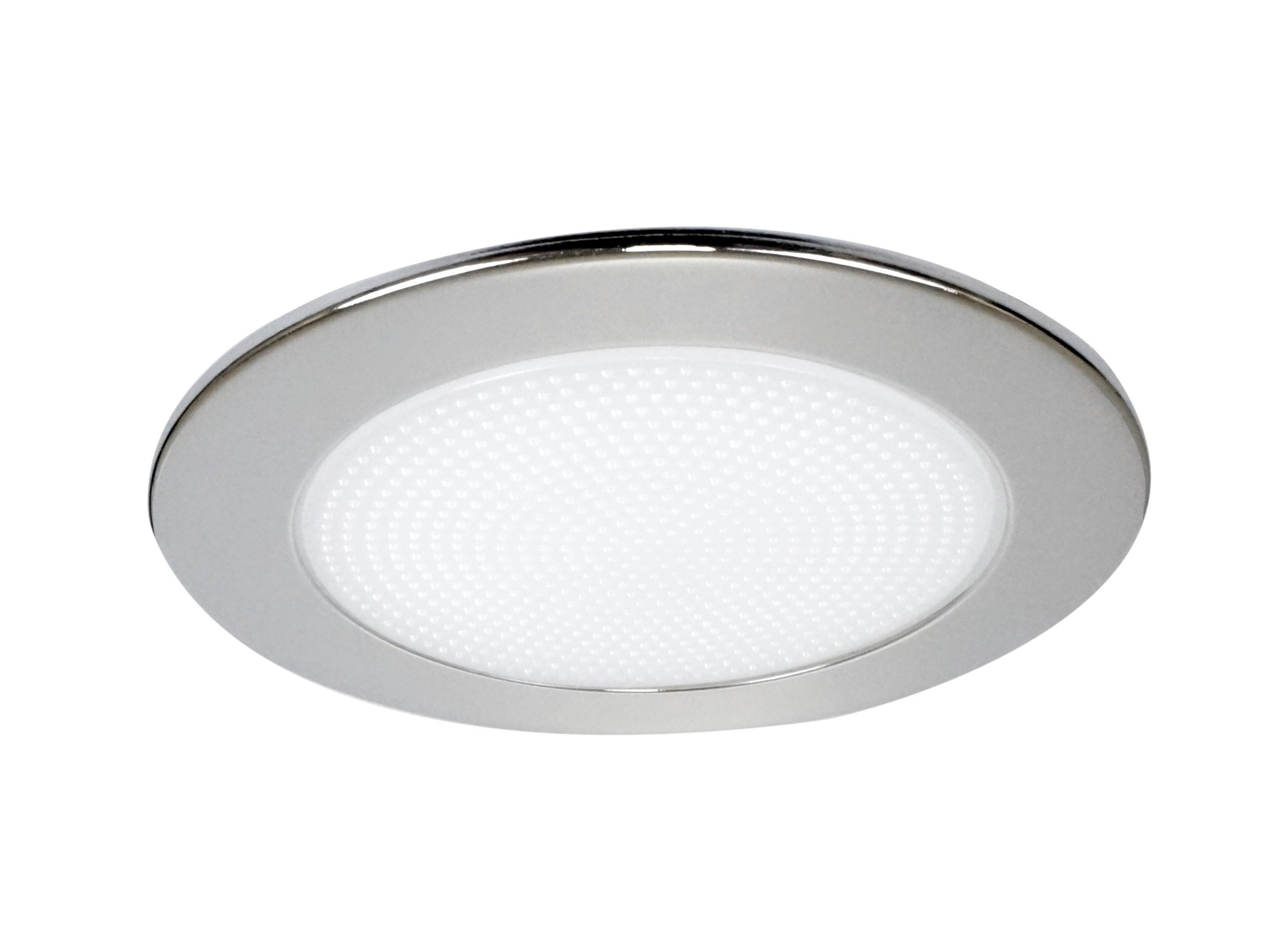 NICOR Lighting 4-inch Recessed Lighting Shower Trim with Albalite Lens, Clear/Reflective (19509CL)