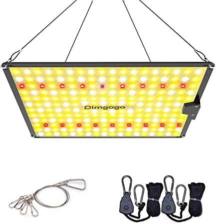 Dimgogo GO-1000 LED Grow Lights 2x2ft Coverage Full Spectrum Grow Lamp with LM301B LEDs and MeanWell Driver for Hydroponic Indoor Plants Seeding Veg and Bloom Greenhouse Growing Light