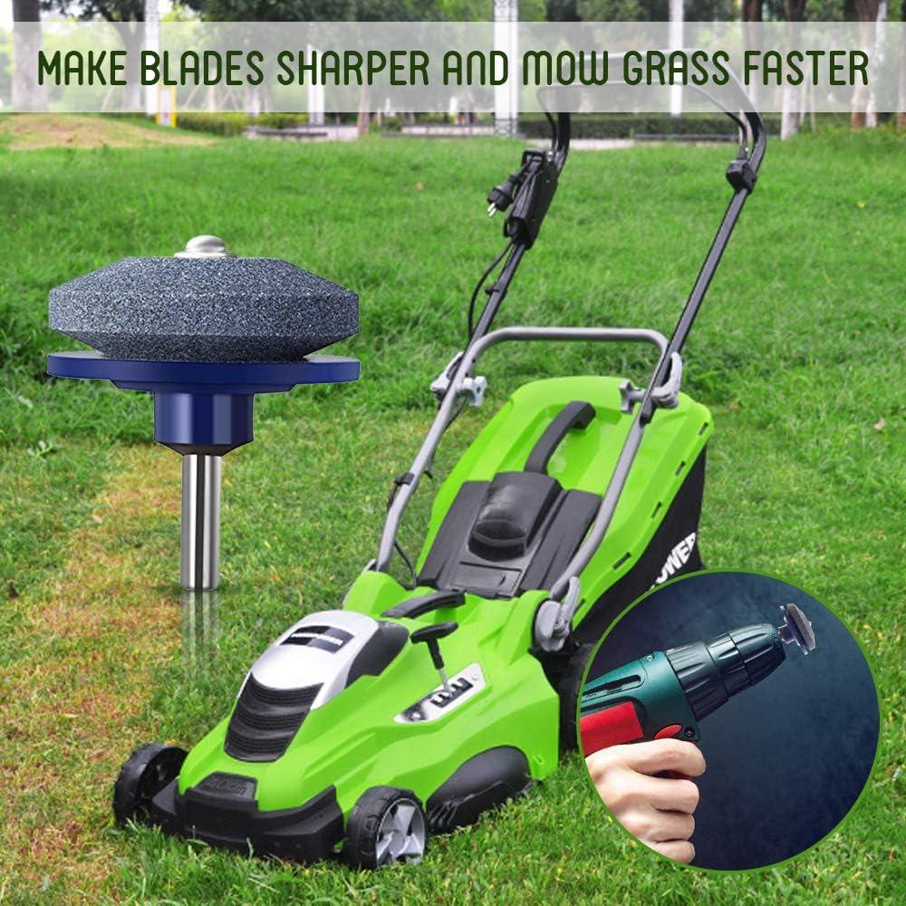 Nany Lawn Mower Sharpener-Universal Lawnmower Faster Blade Sharpener Grinding Garden Tools for Rotary Drill/ã/€Red/ã/€/'