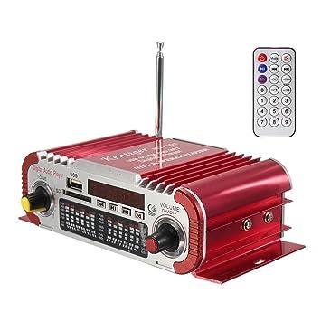 DollaTek 2 canales de alta fidelidad Mini Digital de la motocicleta Auto coche estéreo Amplificador de
