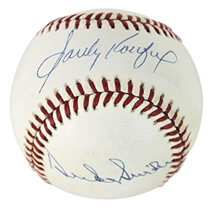 ce26a54c0 Image Unavailable. Image not available for. Color  Dodgers Sandy Koufax    Duke Snider Signed Onl Baseball  H56599 - PSA DNA Certified