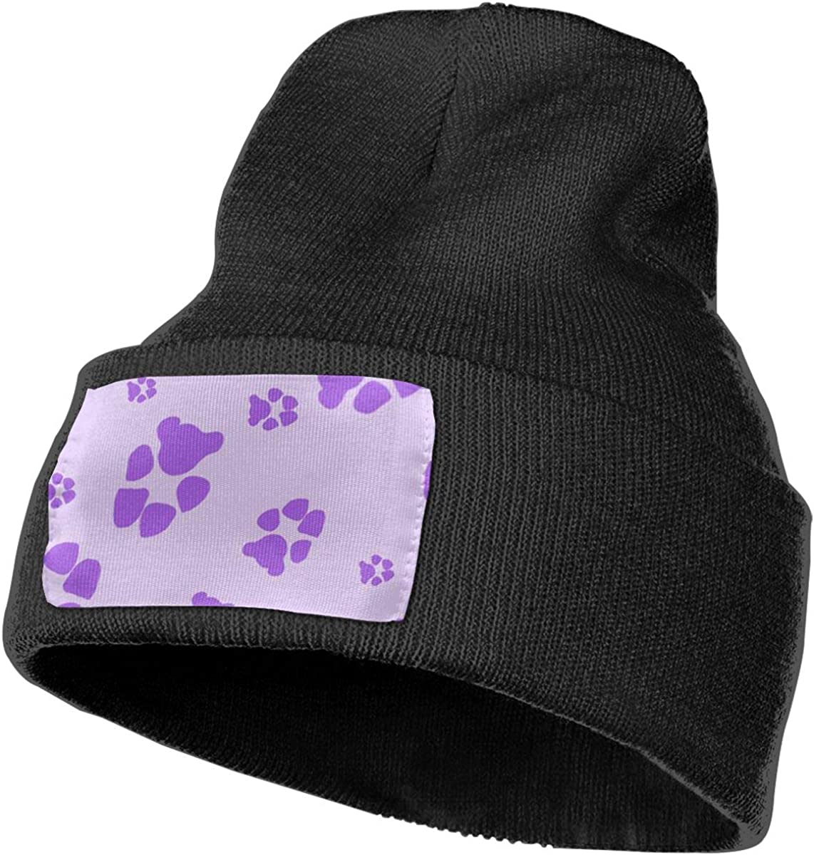 Stretchy Cuff Beanie Hat Black Skull Caps Reigning Cats and Dogs Winter Warm Knit Hats