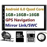 Panlelo® PA09YZ16, 17,8cm 2DIN unità Android 6.0navigazione GPS Car stereo audio radio 1080p video Player ARMv7Quad Core incorporato Wi-Fi Bluetooth AM/FM/RDS Steering Wheel Control [Classe di efficienza energetica A]