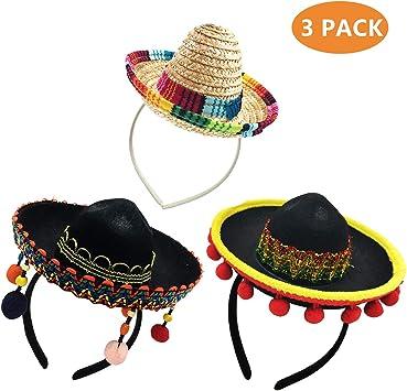 Amazon.com: Kockuu - Juego de 3 gorros de fiesta de Cinco de ...