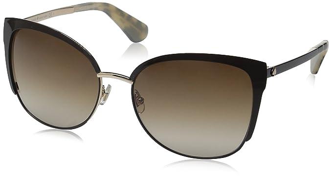 ac23b59e61d8 Kate Spade Women's Genice/s Oval Sunglasses, Gold/Warm Brown Gradient, 57