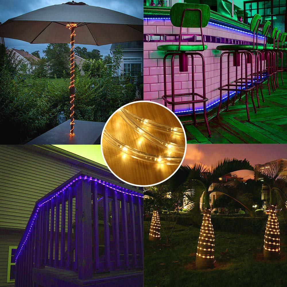 Ollny 10m 100 LED Rope String Lights 16 Colors Changing String Lights USB Powered with Remote Control /& Timer Waterproof Christmas Xmas Decorative Lights for Outdoor and Indoor