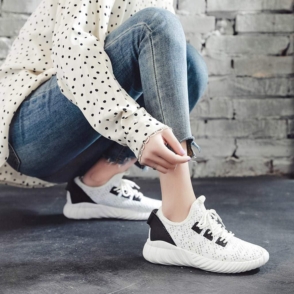XLnuln Womens Openwork Sneakers Breathable Running Shoes Comfortable Casual Shoes Fashion Walking Shoes