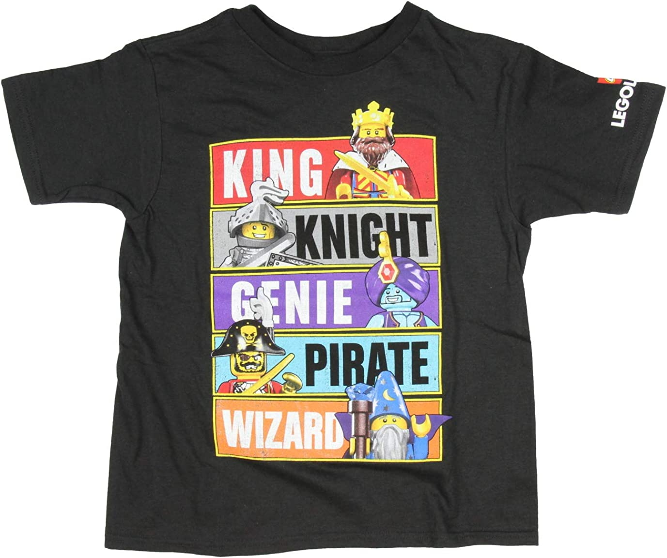LEGO Little Boys' Legoland Distressed Knight Genie Pirate Wizard Toy Figure T-Shirt