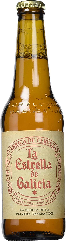 Estrella Galicia La Estrella de Galicia Cerveza - Pack de 24 botellas x 33 cl: Amazon.es: Alimentación y bebidas
