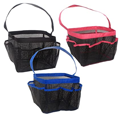 Amazon.com: Quick Dry Bathroom Storage Basket, Mesh Fabric Hanging ...