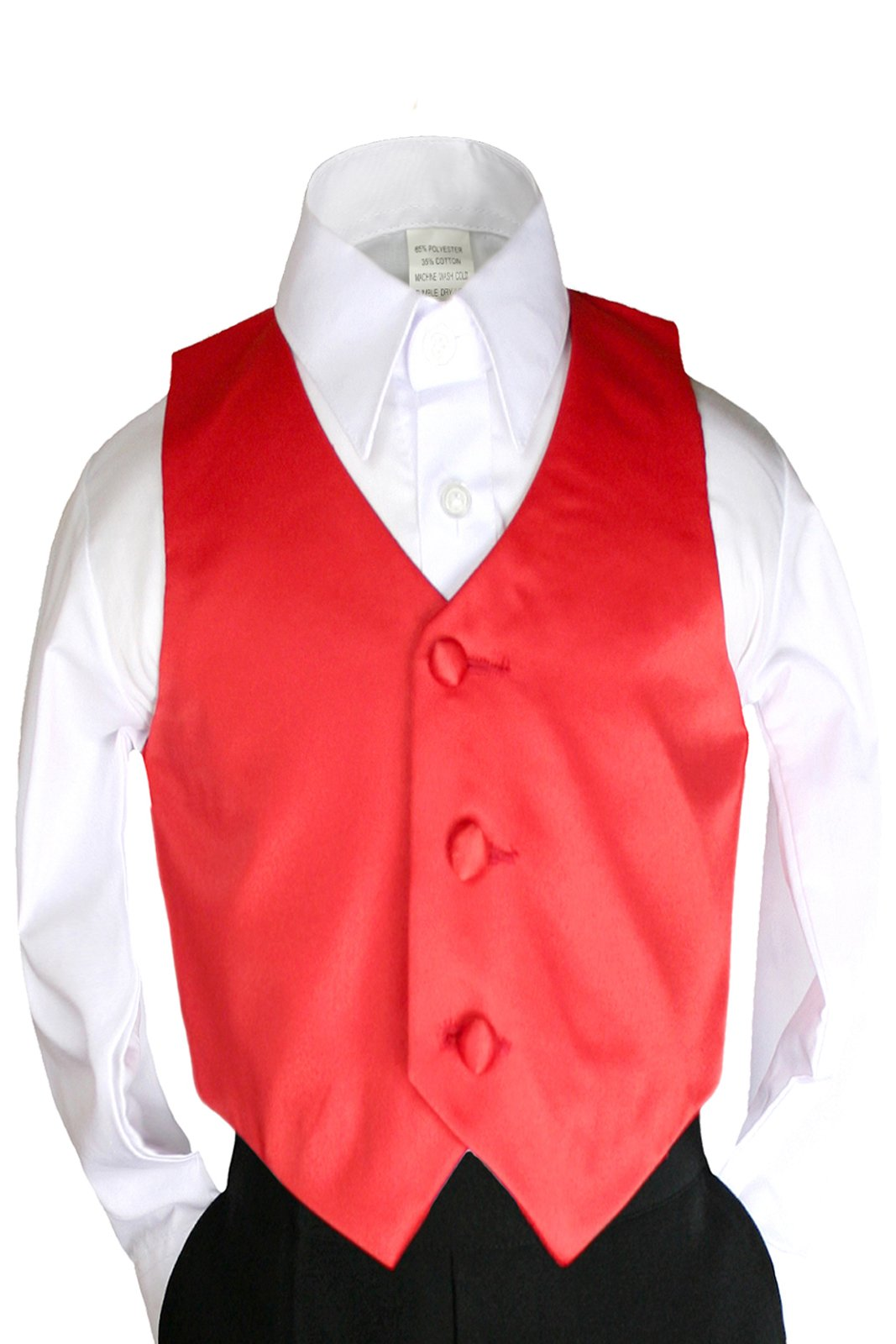 Unotux Boys Satin Vest from Baby to Teen (5, Red)