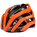 Bicycle Helmet, SKL Ultralight Bicycle Helmet Unisex with Safety LED Taillight Adjustable Strap Road/Mountain Bike Cycle Helmets For Men Women, 56-61 cm