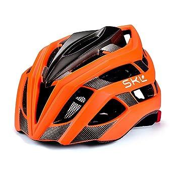 Casco de bicicleta, SKL Ultraligero Casco De Bicicleta Unisex Con La luces traseras LED de