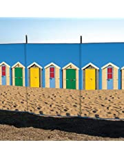 Laeto Sports and Outdoors 4 Pole 4' Beach Hut Printed Windbreak for the Outdoors at the Beach