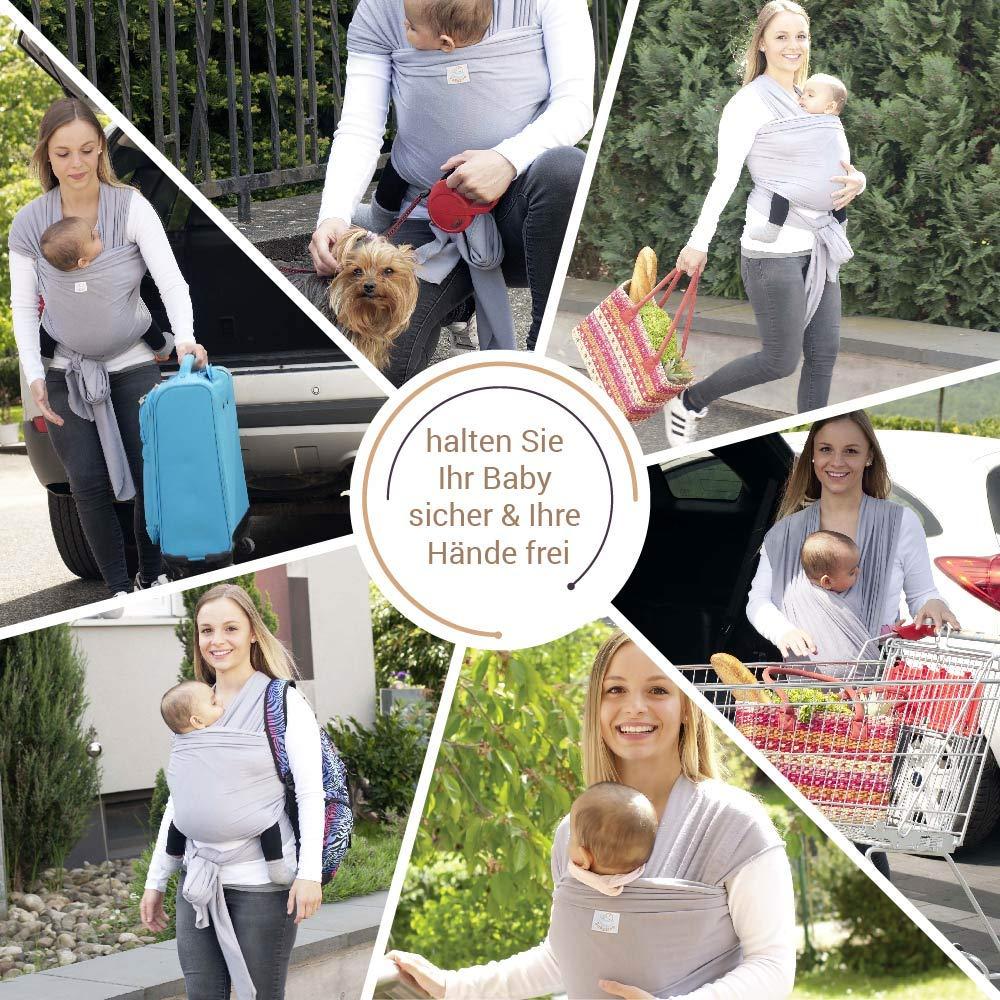 babybino/ /Pa/ñuelo portabeb/és Wrap Premium calidad ergon/ómico soporte para reci/én nacidos