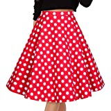 Musever Women's Pleated Vintage Skirts Floral Print