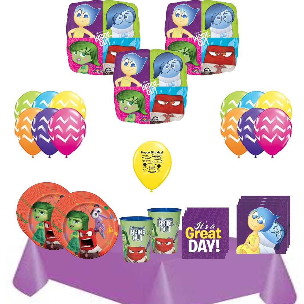Inside Out Party Pack for 16 and Balloons Set